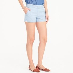 J. Crew Factory Cotton Chambray Oxford Shorts
